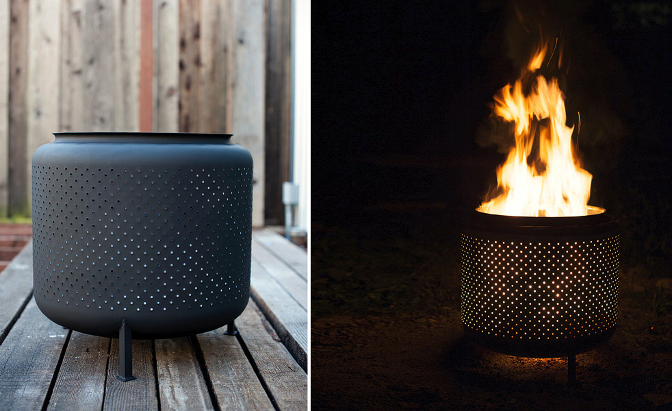 Turn a Washing Machine Drum Into a Fire Pit