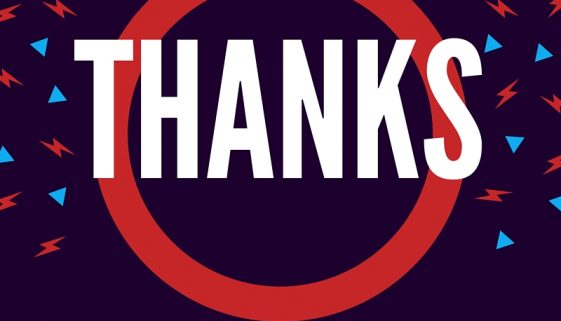 Thanks: Be remembered for your gratitude