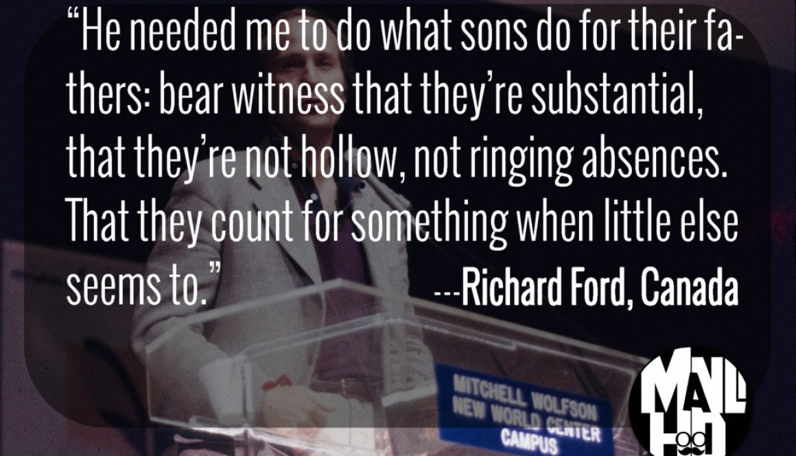 Richard Ford – #ManCrushMonday