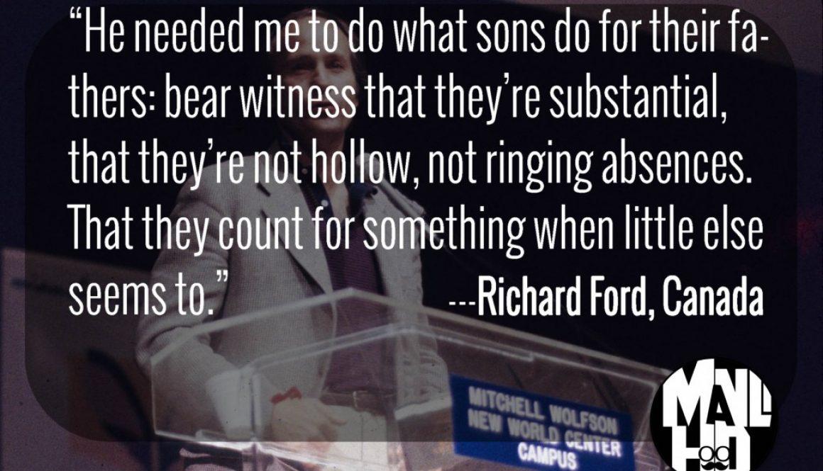 Richard Ford, Miami Book Fair International, 1987