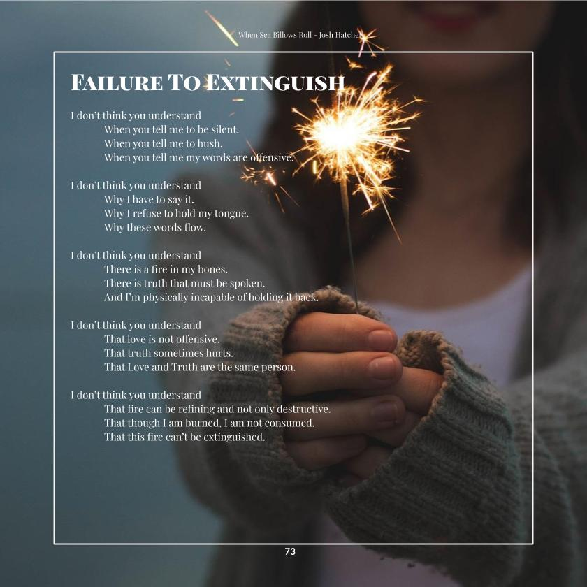 Failure to Extinguish - a Poem by Josh Hatcher from Manlihood.com and Out of Your Shell Poetry