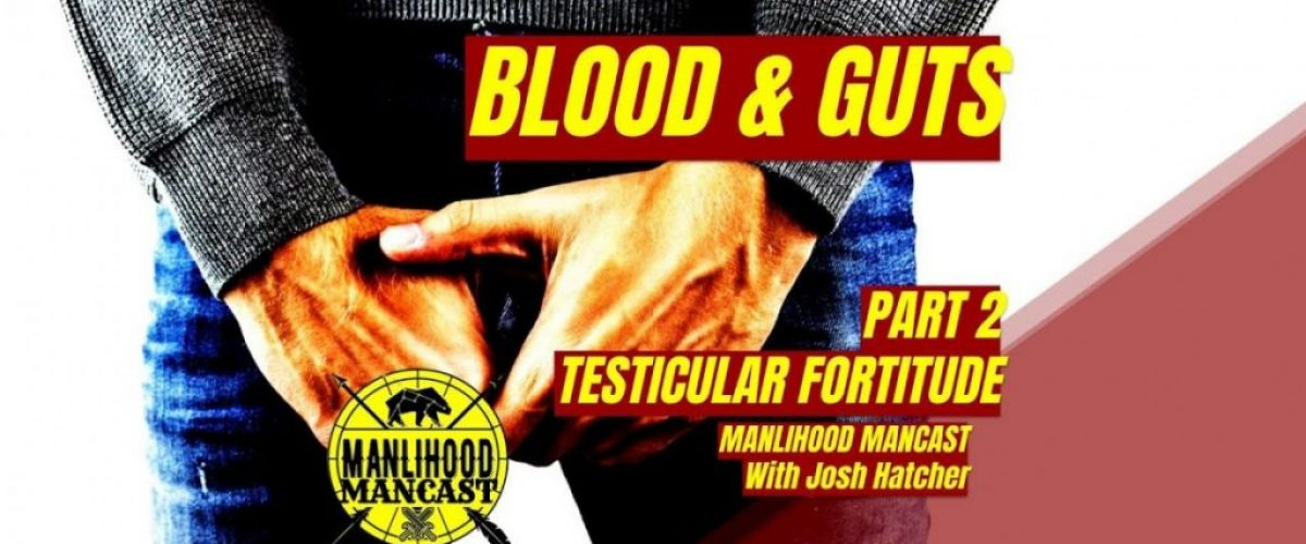 testicular fortitude: a podcast for men about having balls or guts or intestinal fortitude