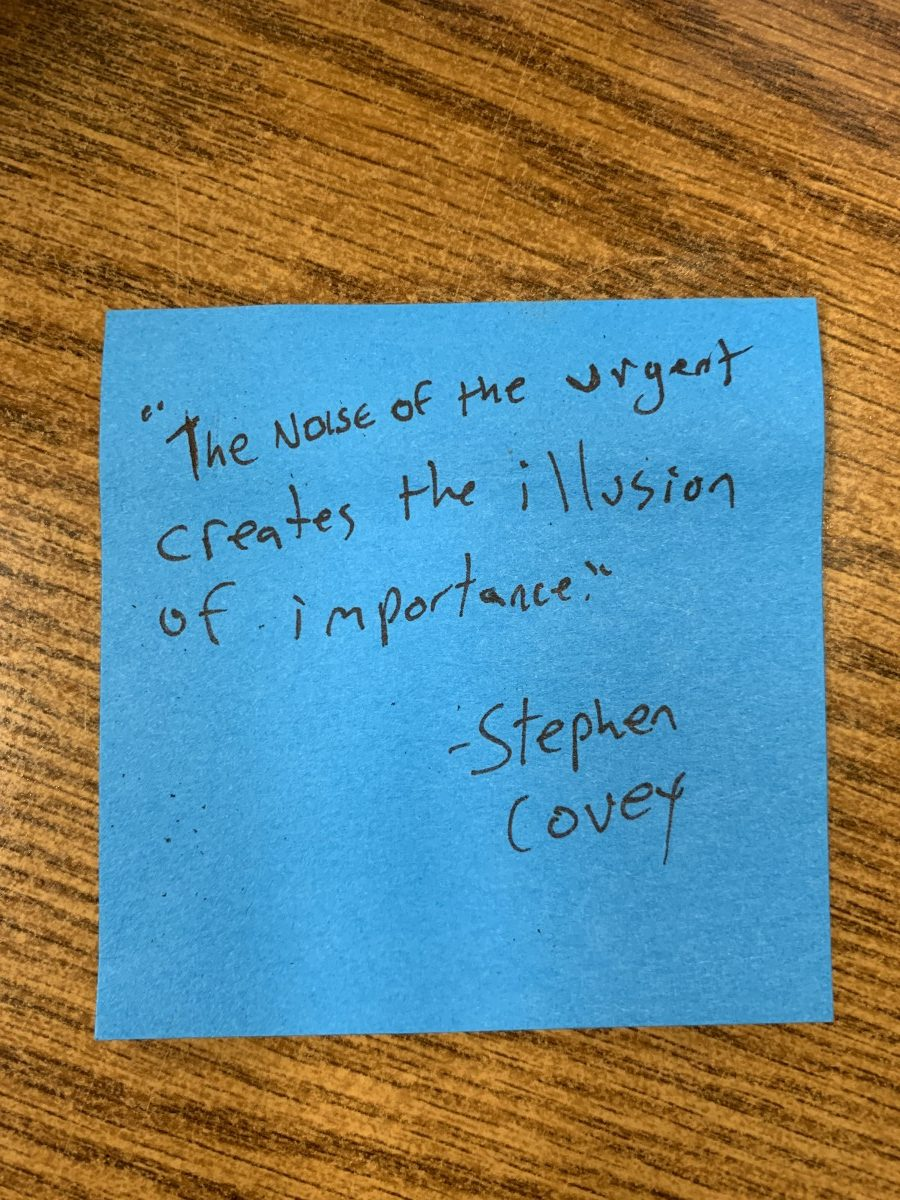 stephen covey quote about important